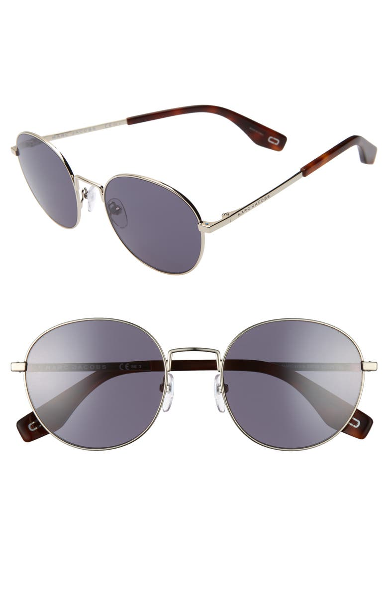 MARC JACOBS 53mm Round Sunglasses