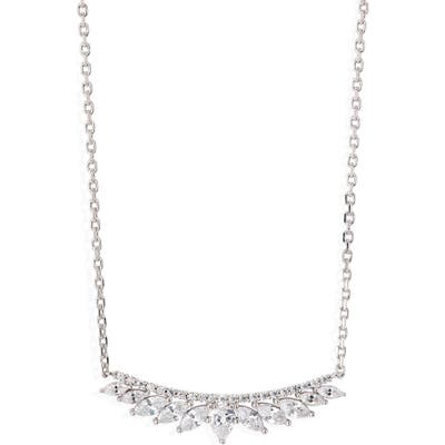 Nordstrom Marquise Crystal Bar Pendant Necklace