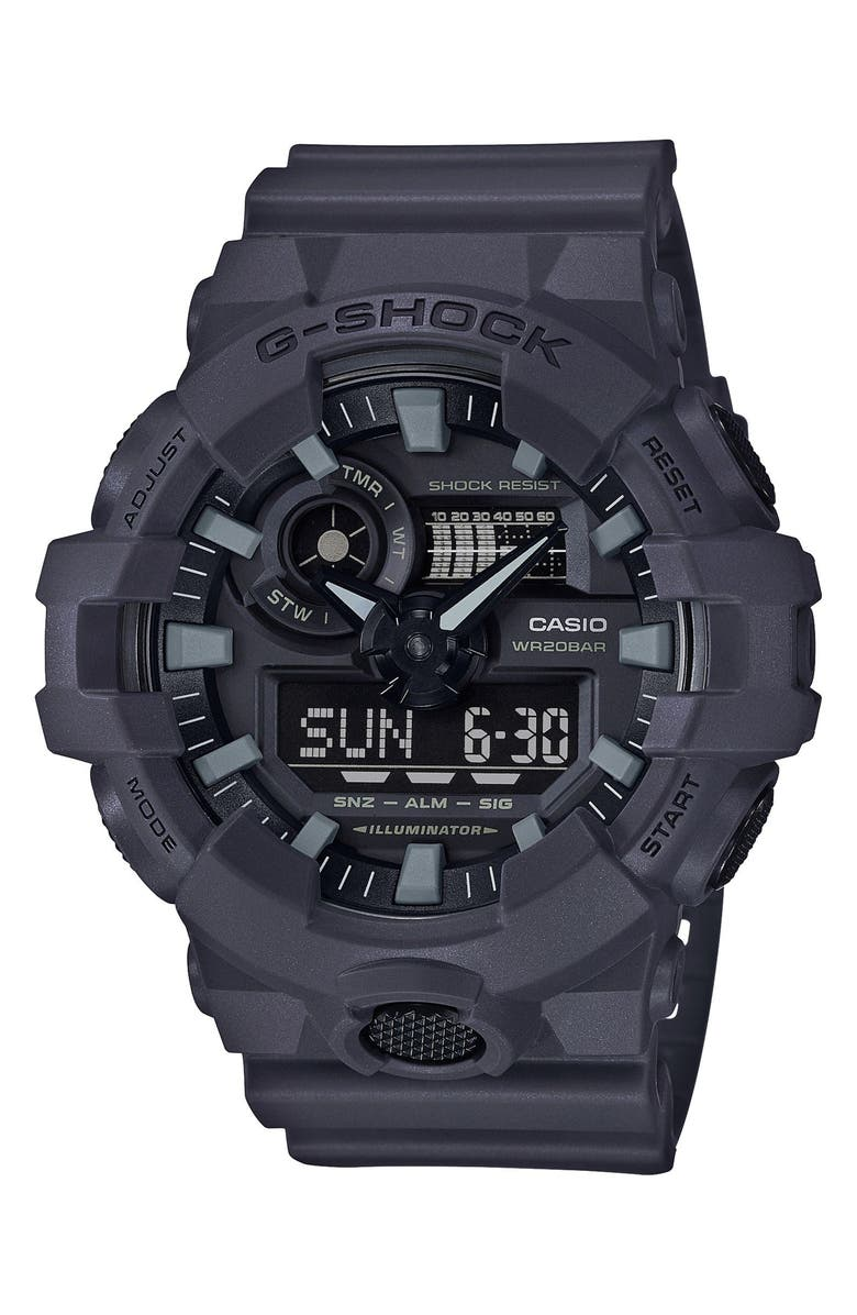 G-SHOCK BABY-G Military Ana-Digi Watch, 53mm, Main, color, GREY/ BLACK