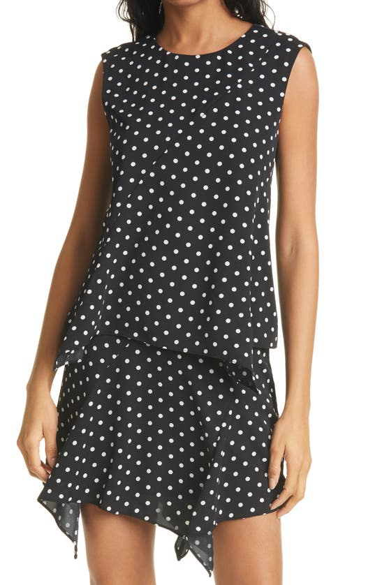 MILLY Tops LESLIE SMALL DOT SLEEVELESS TOP