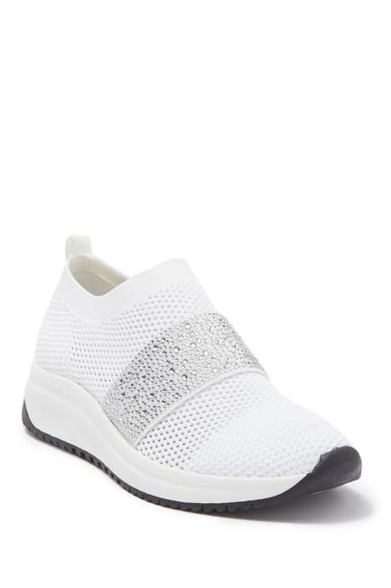 Image of Anne Klein Bask Crystal Embellished Slip-On Sneaker