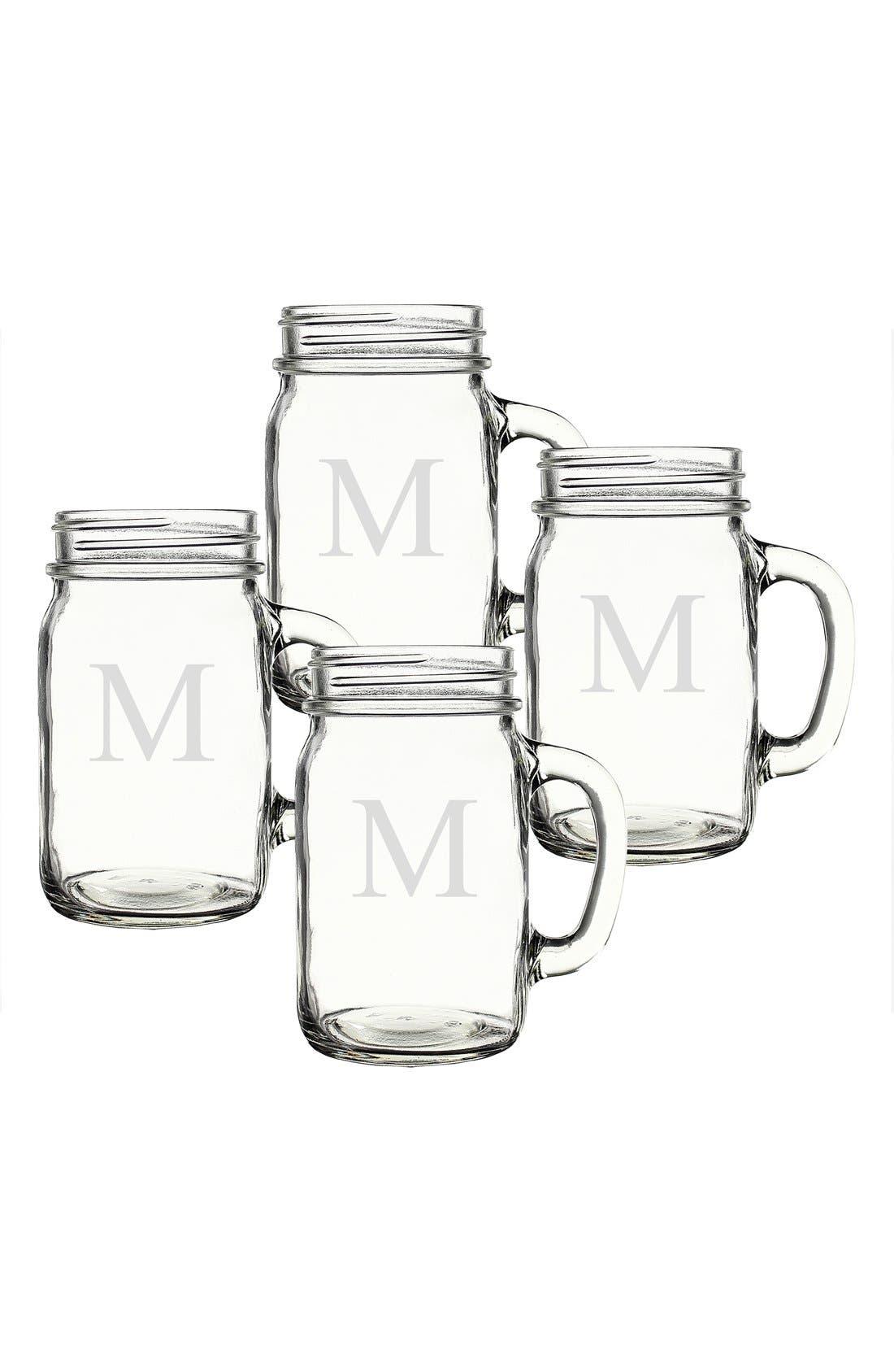 ,                             Monogram Glass Drinking Jars,                             Alternate thumbnail 42, color,                             972