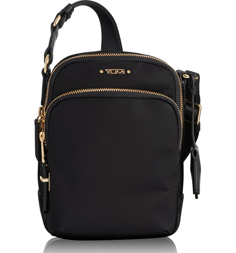 TUMI Voyageur Ruma Nylon Crossbody Bag, Main, color, BLACK