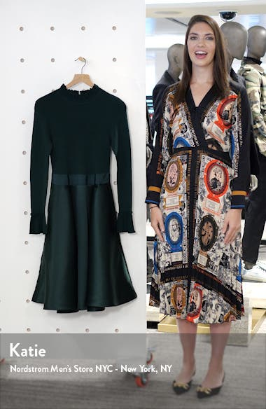Zadi Long Sleeve Fit & Flare Dress, sales video thumbnail