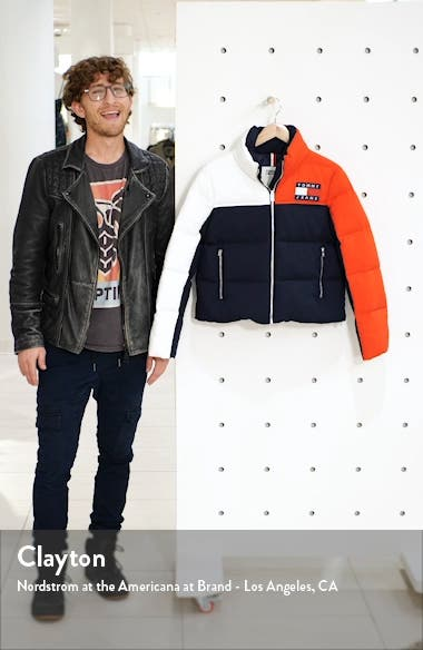 Colorblock Puffer Coat, sales video thumbnail