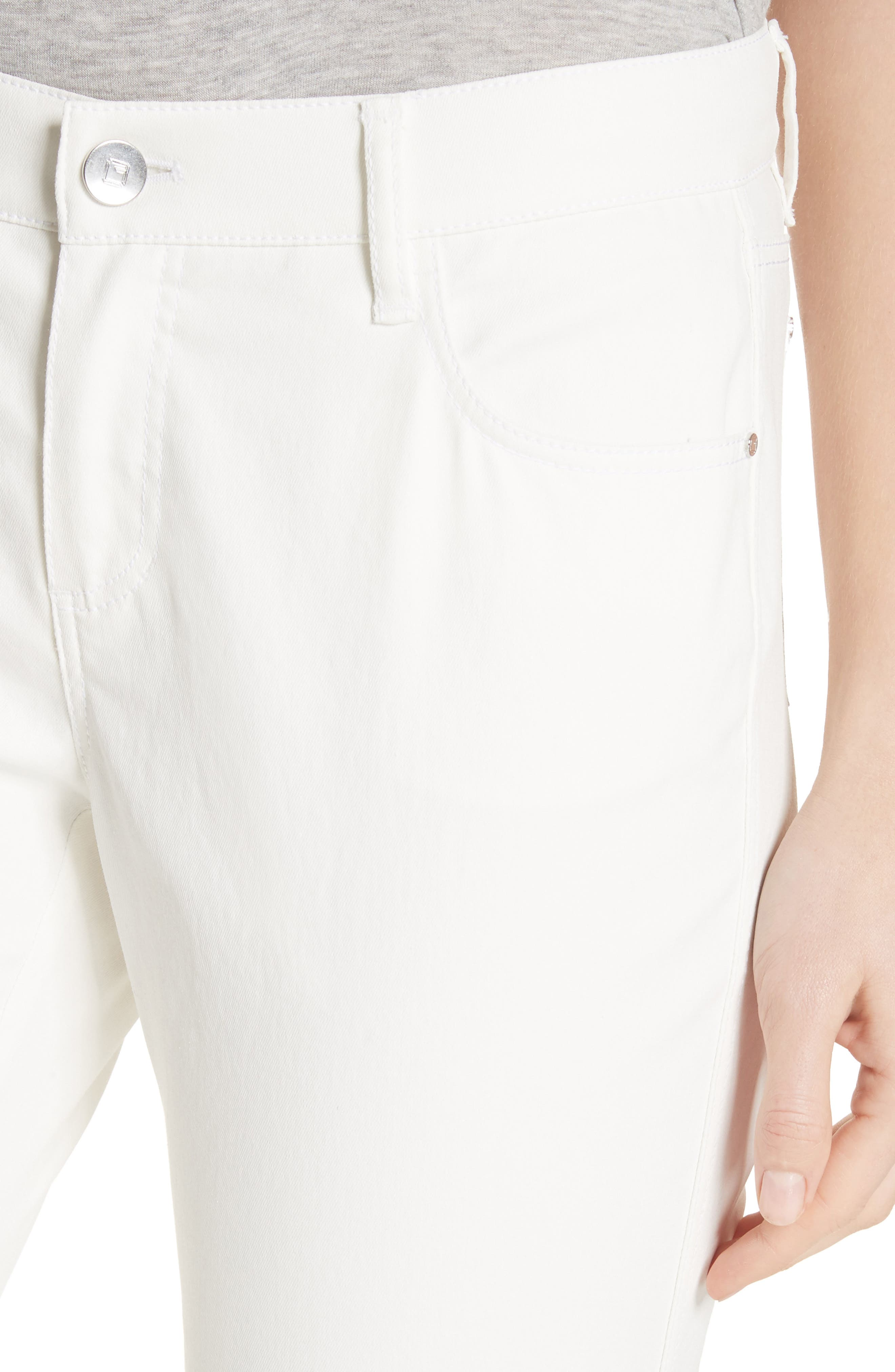 ,                             Mercer Crop Flare Jeans,                             Alternate thumbnail 6, color,                             WHITE