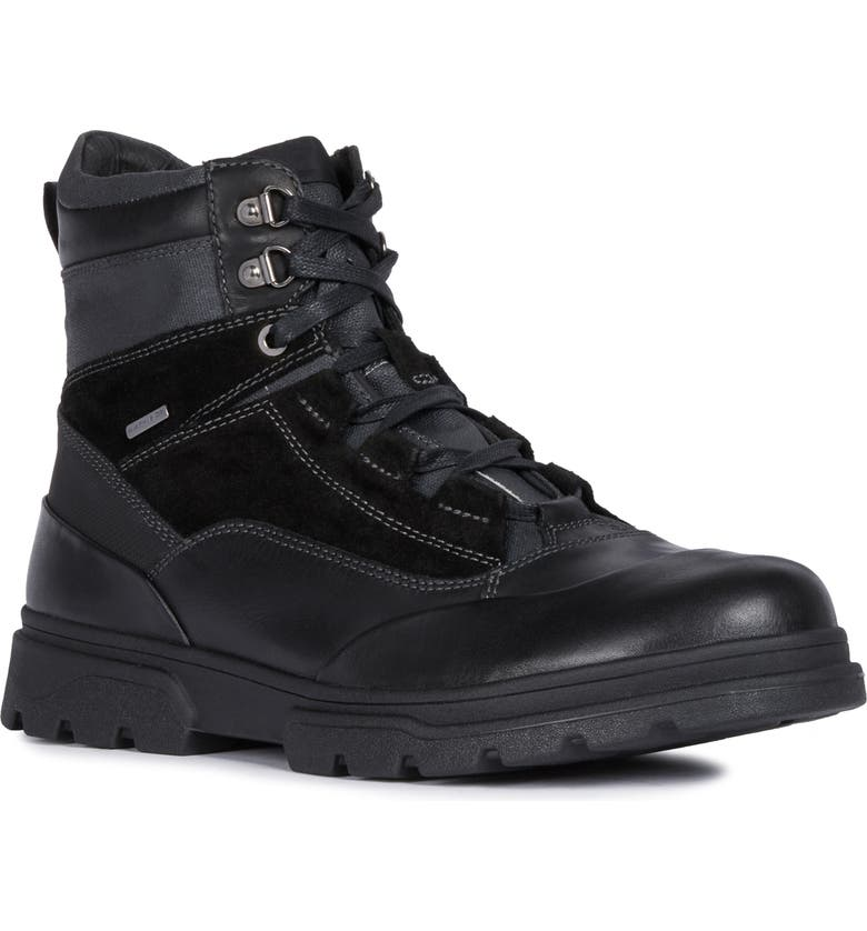 GEOX Clintford ABX Waterproof Boot, Main, color, BLACK