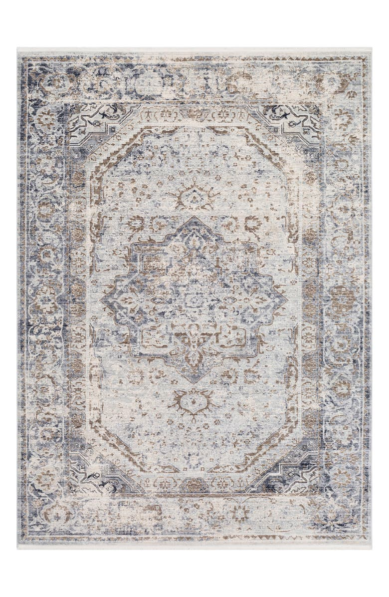 SURYA HOME Liverpool Classic Area Rug, Main, color, BLACK