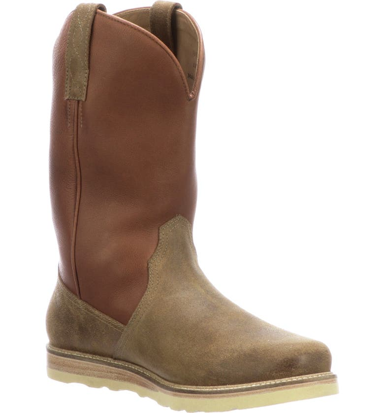 LUCCHESE Range Cowboy Boot, Main, color, OLIVE