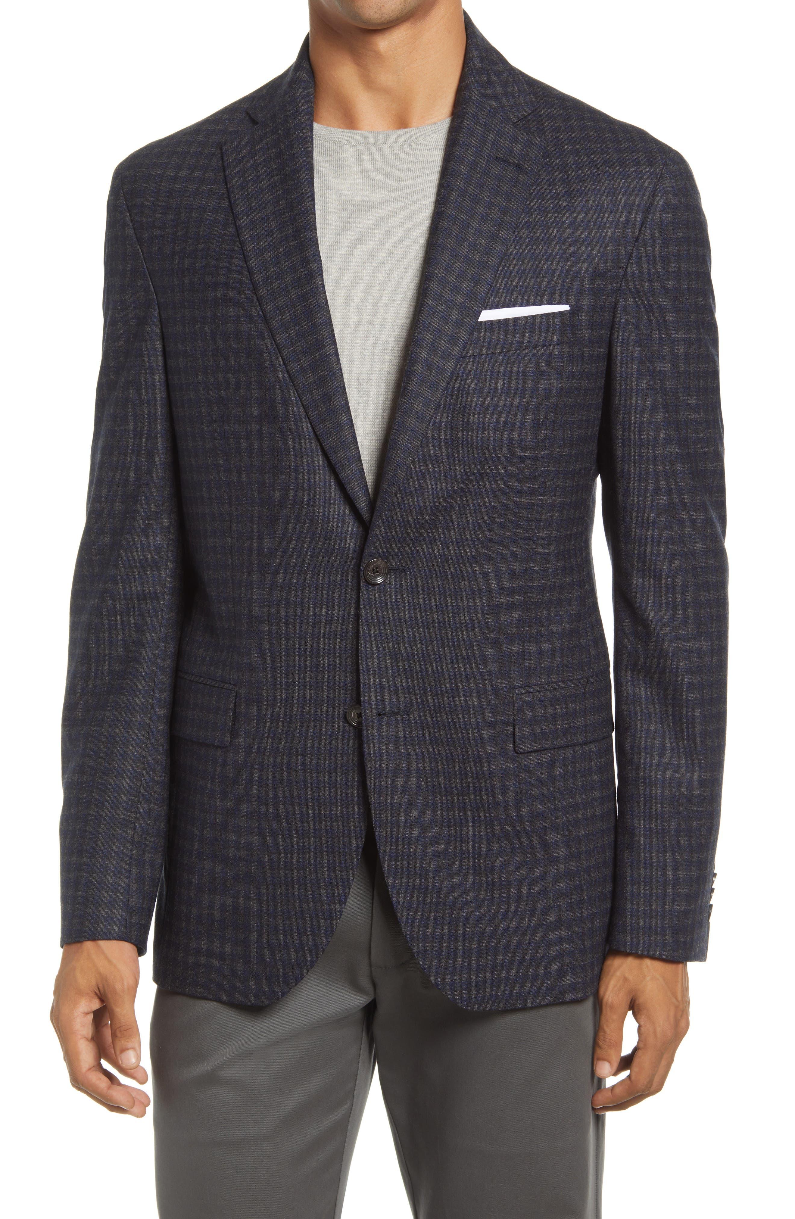 Midland Check Stretch Wool Sport Coat