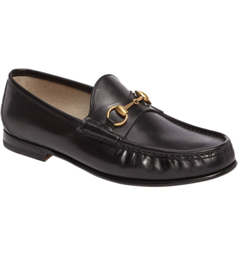 GUCCI 'Roos' Bit Loafer, Main, color, 001