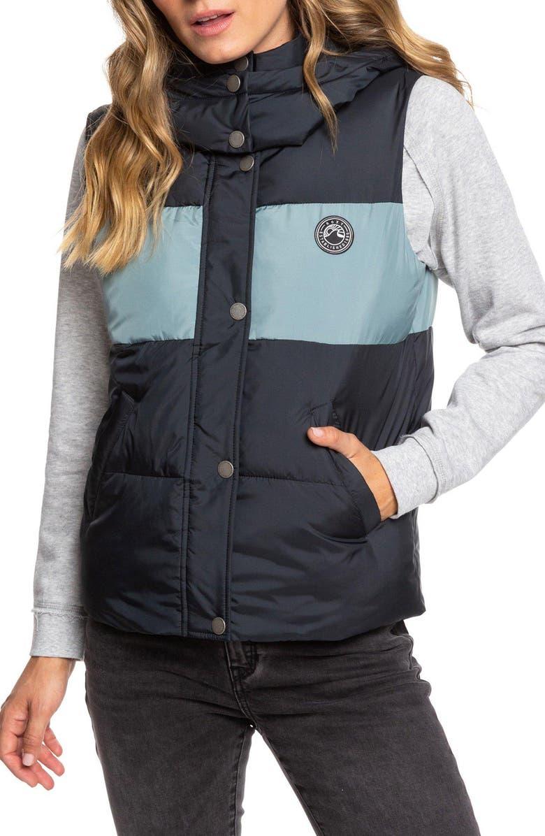 ROXY Out of Focus Vest, Main, color, TRUE BLACK