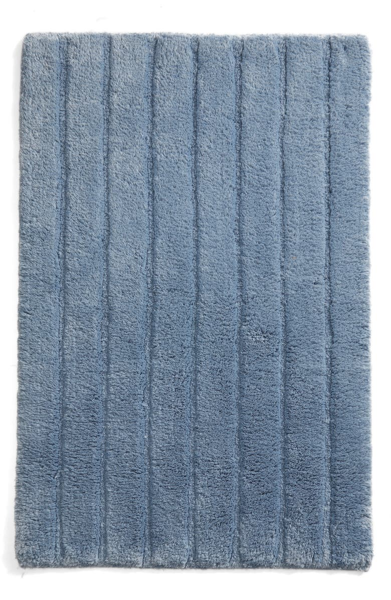 NORDSTROM AT HOME Ribbed Velour Bath Rug, Main, color, BLUE CHAMBRAY