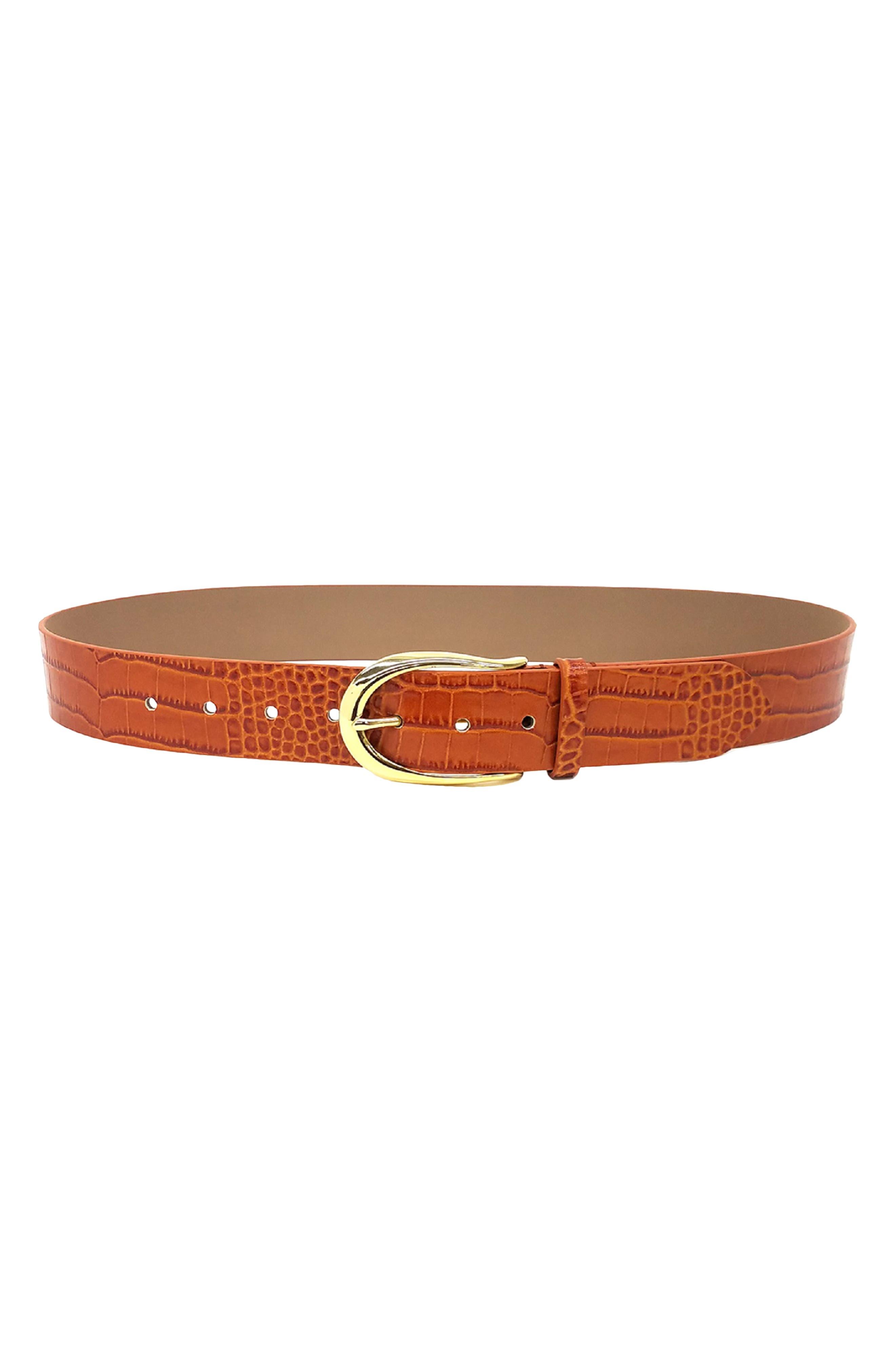 Erin Croc Embossed Belt