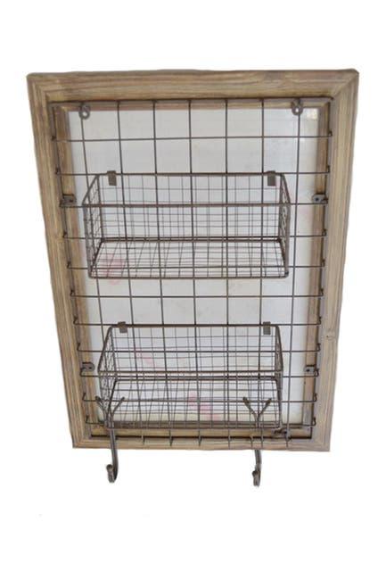 Image of SAGEBROOK HOME Brown Mavis Wall Basket
