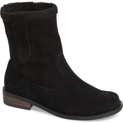 Sole Society Verona Faux Shearling Boot- Black