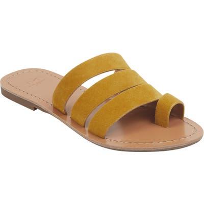 Marc Fisher Ltd Rilee Slide Sandal, Yellow