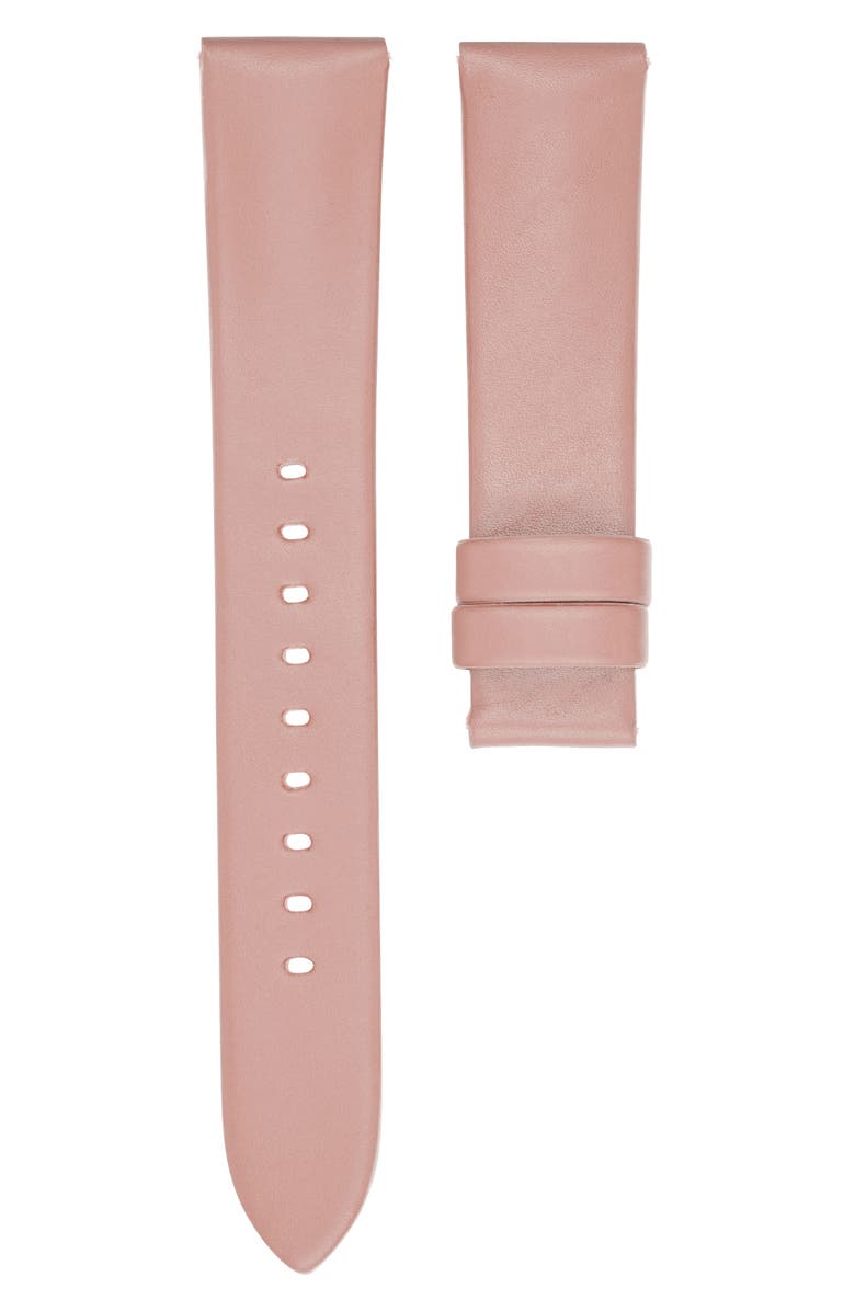 MICHAEL KORS Runway Leather Watch Strap, Main, color, PINK
