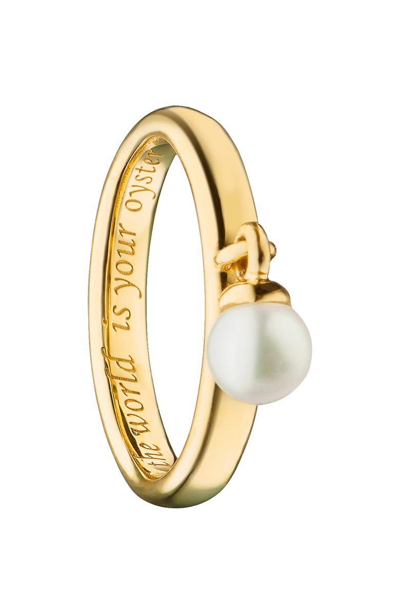 MONICA RICH KOSANN Pearl Poesy Ring, Main, color, YELLOW GOLD/ PEARL