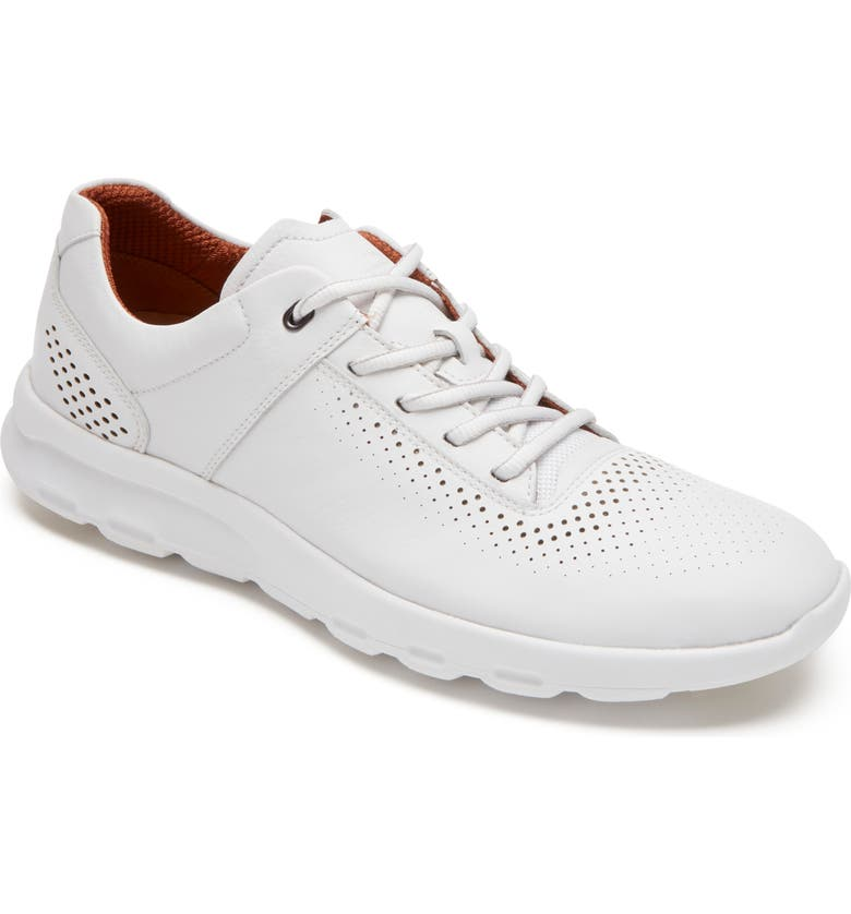 ROCKPORT Let's Walk Sneaker, Main, color, WHITE LEATHER