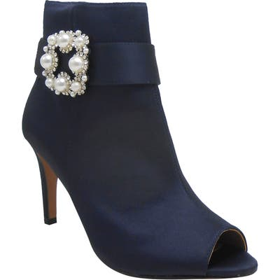 J. Renee Pranati Embellished Open Toe Bootie, Blue