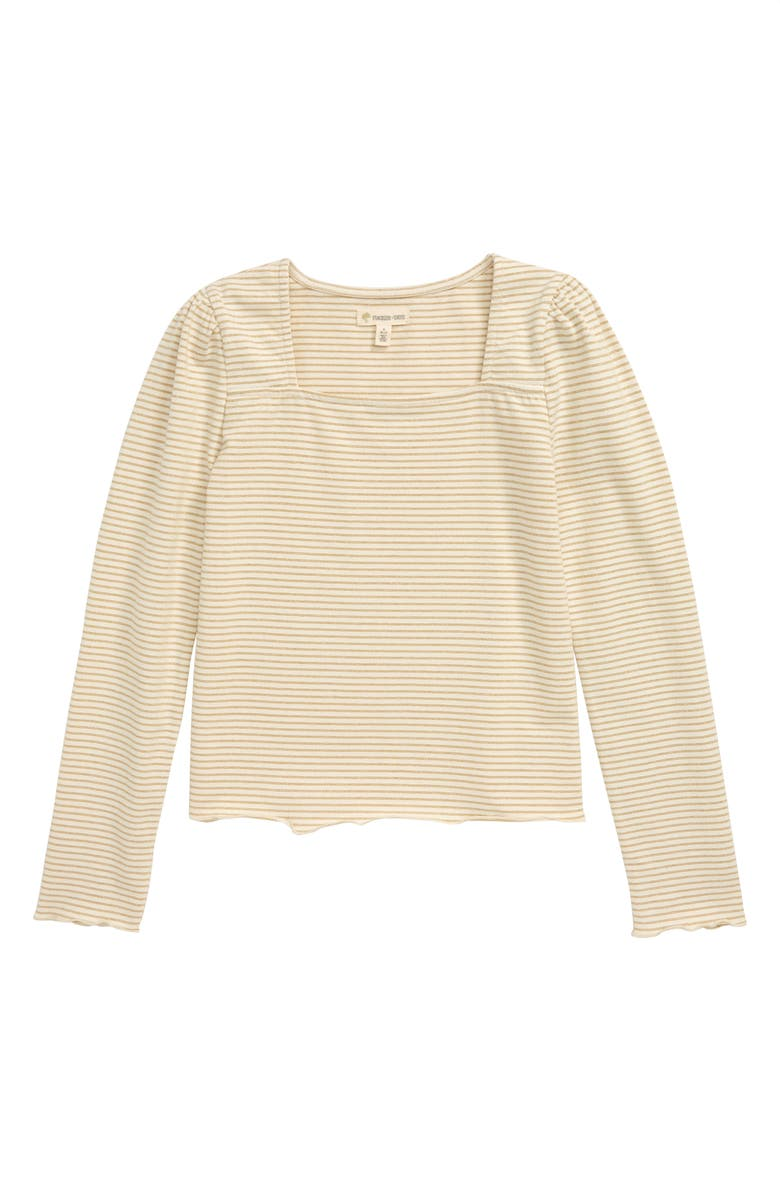 TUCKER + TATE Square Neck Tee, Main, color, IVORY EGRET SPARKLE STRIPE