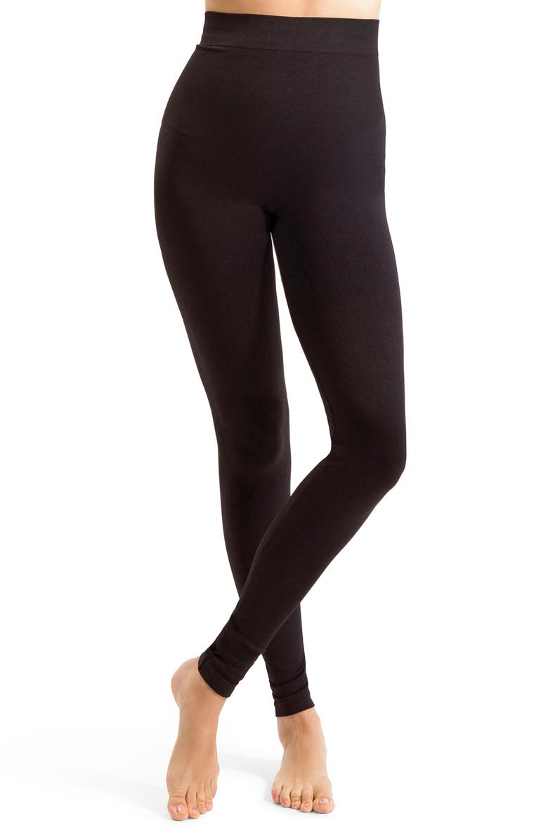 BLANQI Everyday High Waist Postpartum/Nursing Leggings, Main, color, BLACK