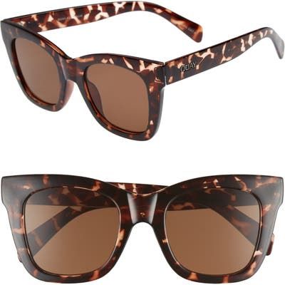 Quay Australia After Hours 50Mm Square Sunglasses - Tort / Brown
