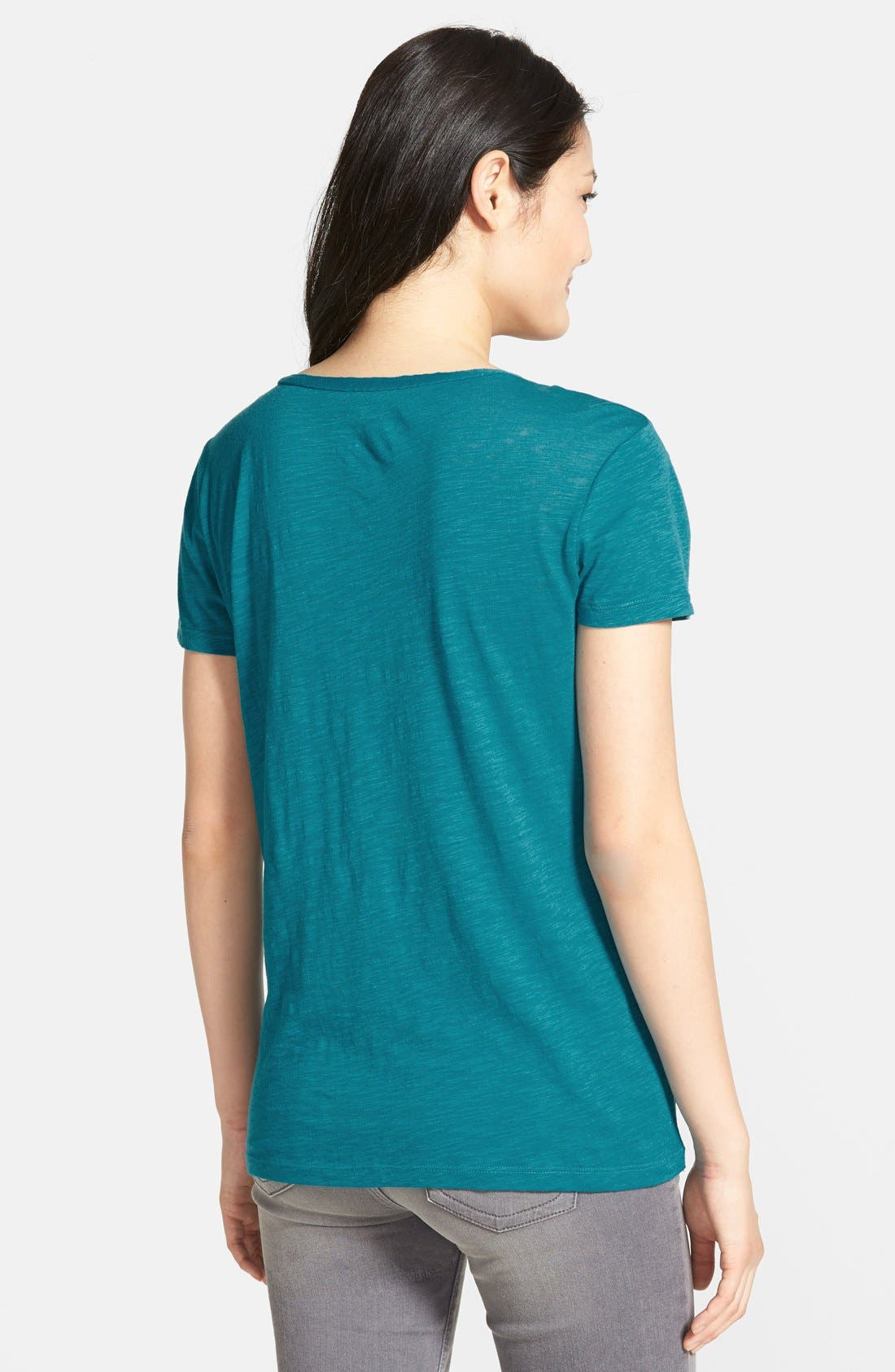 ,                             Relaxed Slub Knit U-Neck Tee,                             Alternate thumbnail 316, color,                             462