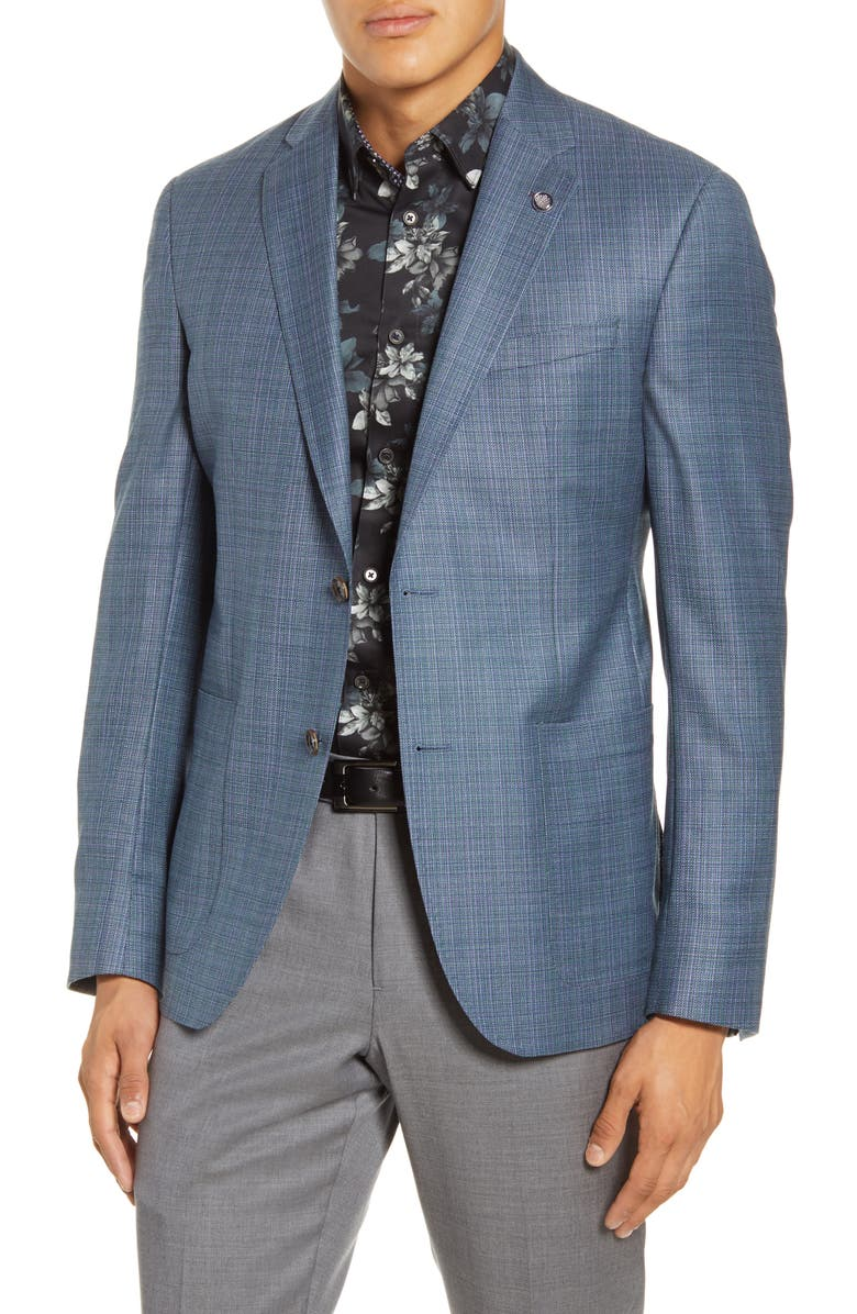 TED BAKER LONDON Kyle Trim Fit Wool Sport Coat, Main, color, 475