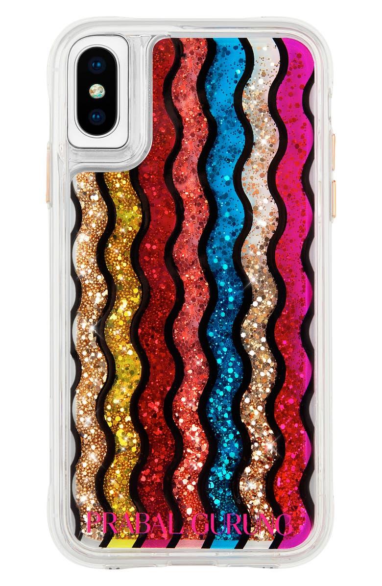CASE-MATE<SUP>®</SUP> x Prabal Gurung Rainbow Waterfall iPhone X/XS/XS Max & XR Plus Phone Case, Main, color, 600