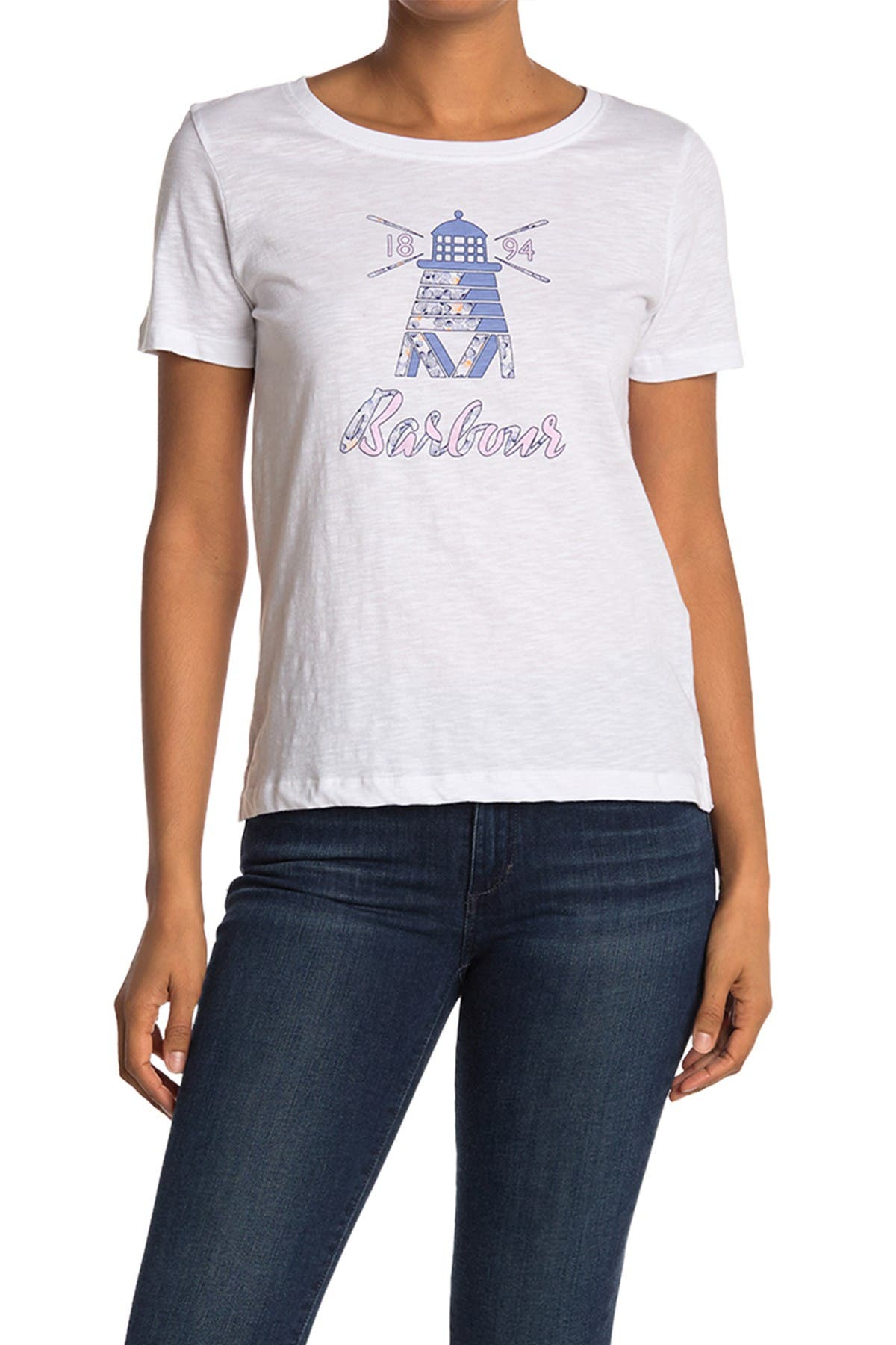 Image of Barbour Dover Scoop Neck Graphic T-Shirt