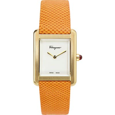 Salvatore Ferragamo Portrait Two-Tone Bracelet Watch, 31Mm X 41Mm