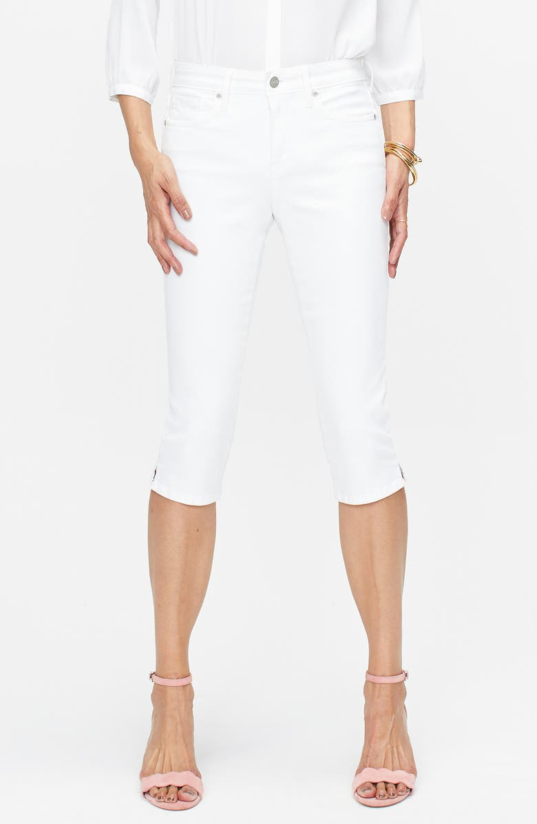NYDJ Skinny Capri Jeans, Main, color, OPTIC WHITE