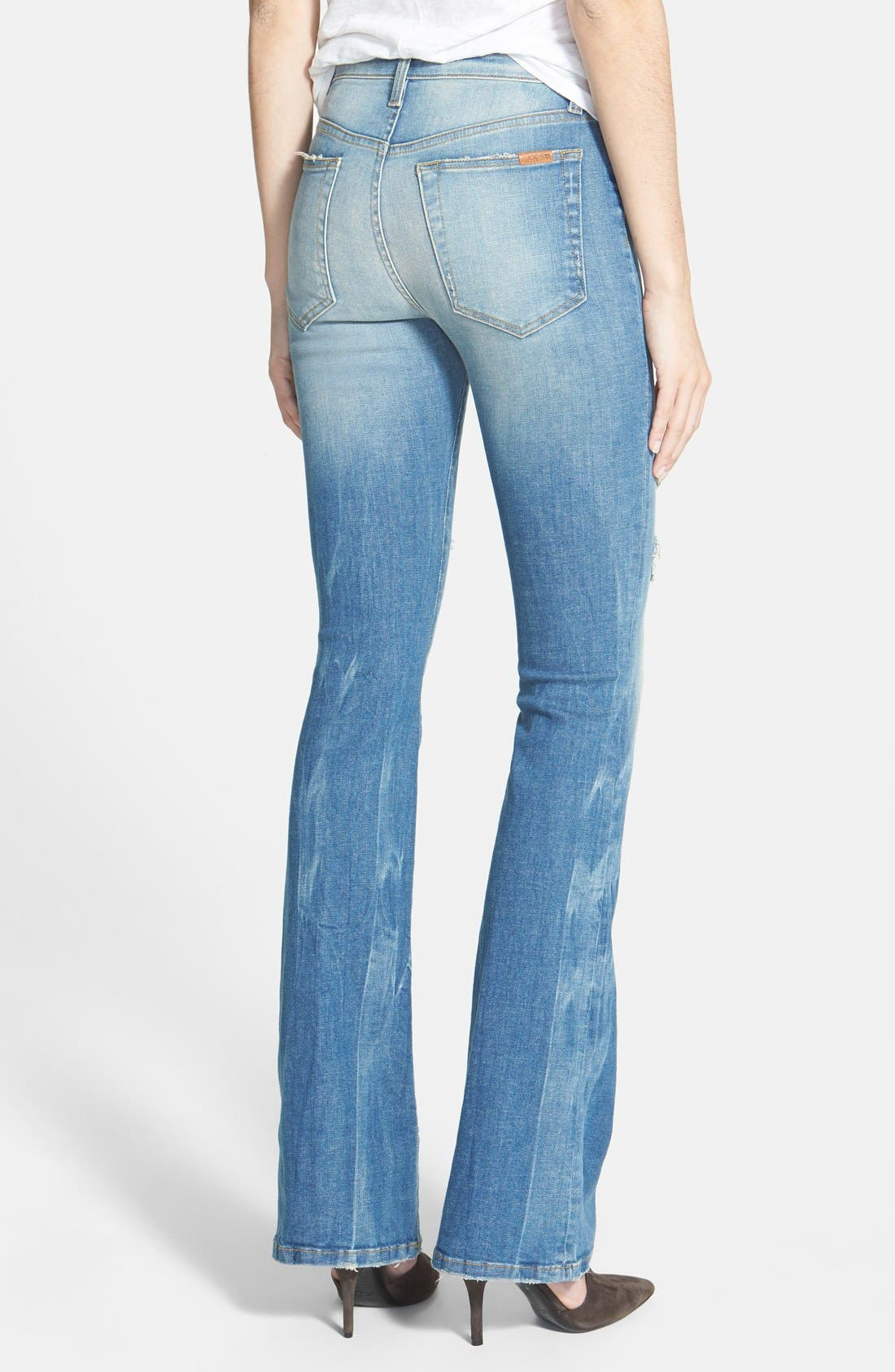 ,                             'Collector's Edition' Destructed Flare Jeans,                             Alternate thumbnail 4, color,                             400