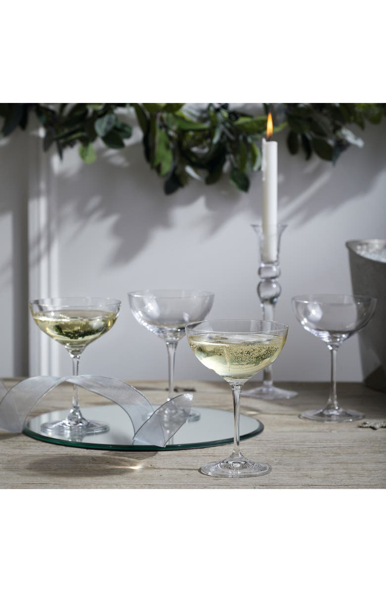 THE WHITE COMPANY Set of 4 Champagne Glasses, Main, color, CLEAR