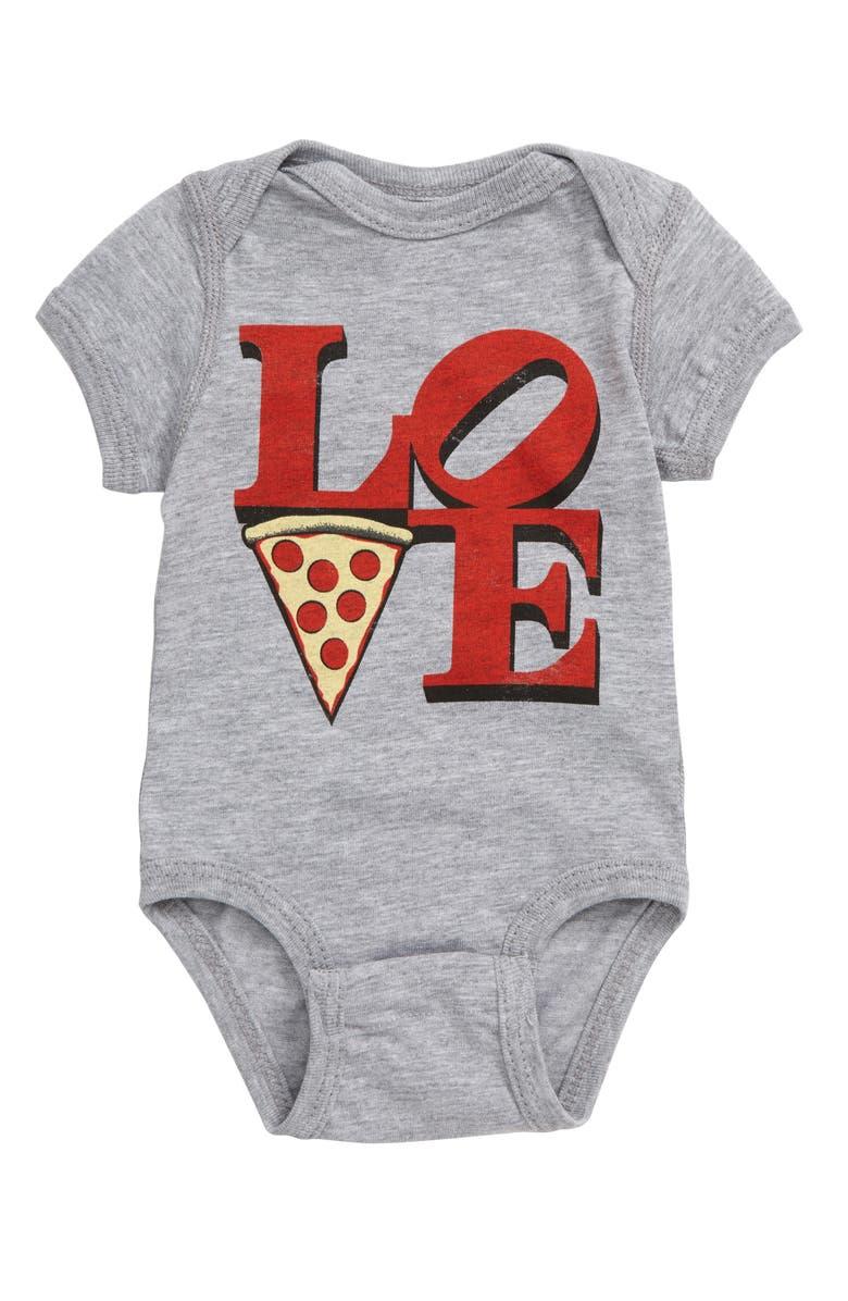 KID DANGEROUS Love Pizza Bodysuit, Main, color, 030