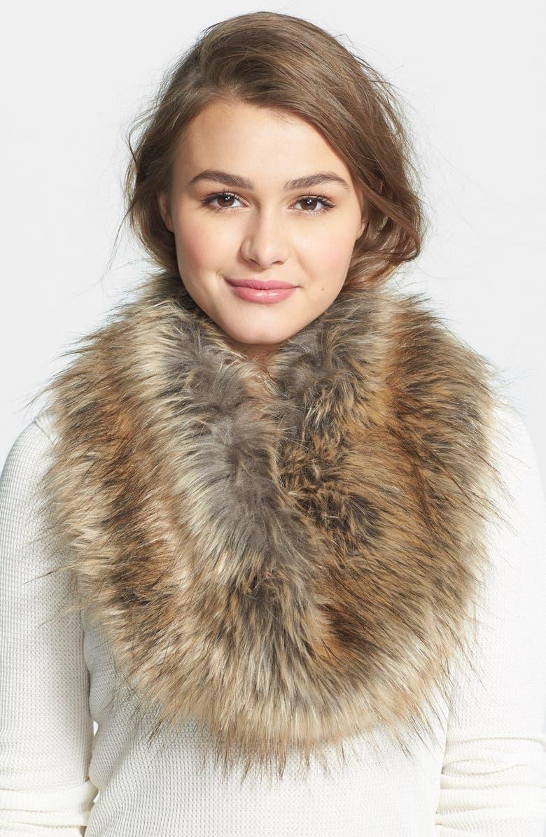 BP. Faux Fur Infinity Scarf, Main, color, 200