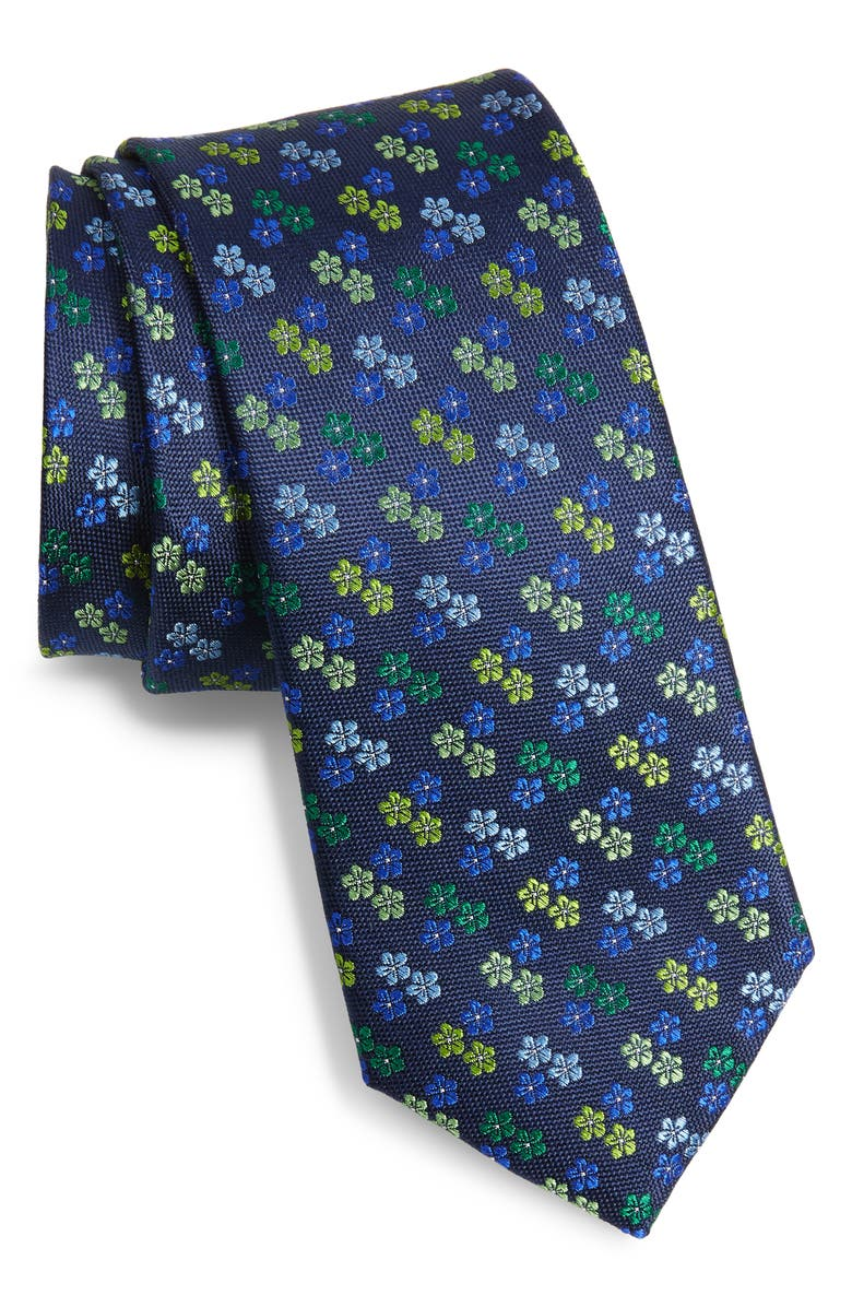 TED BAKER LONDON Floral Silk Tie, Main, color, GREEN