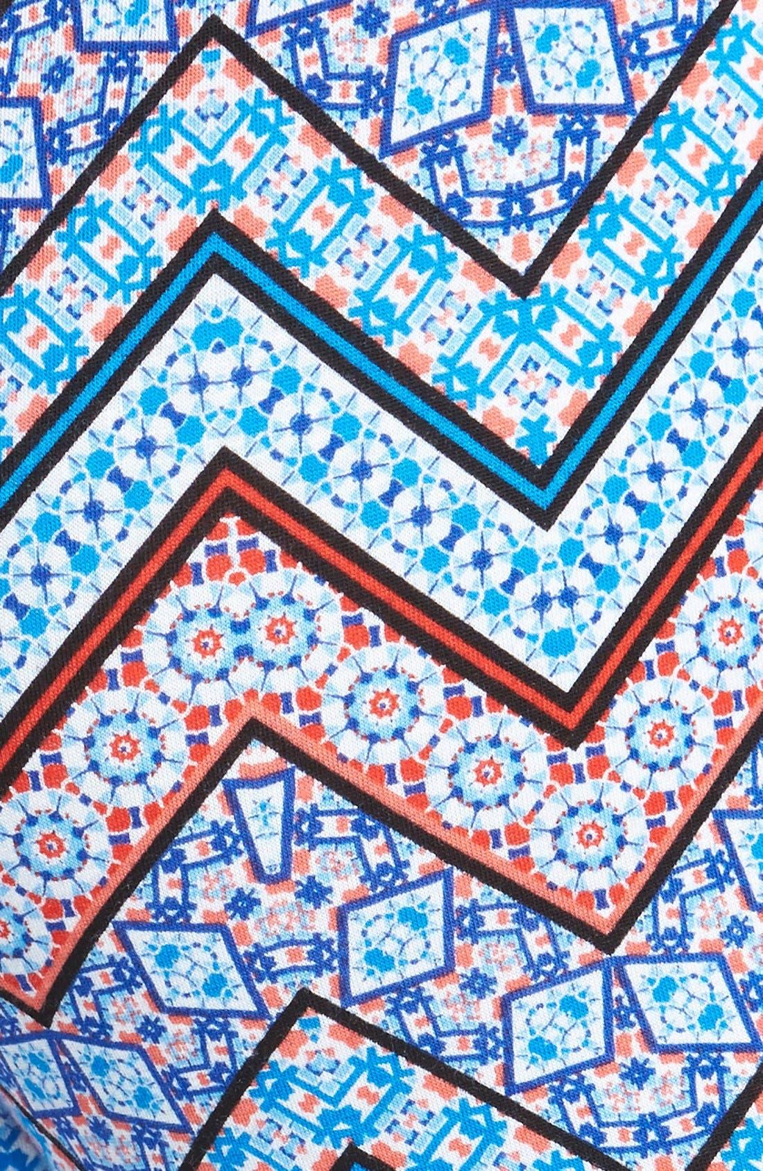 ,                             Mixed Print Flare Leg Pants,                             Alternate thumbnail 73, color,                             400