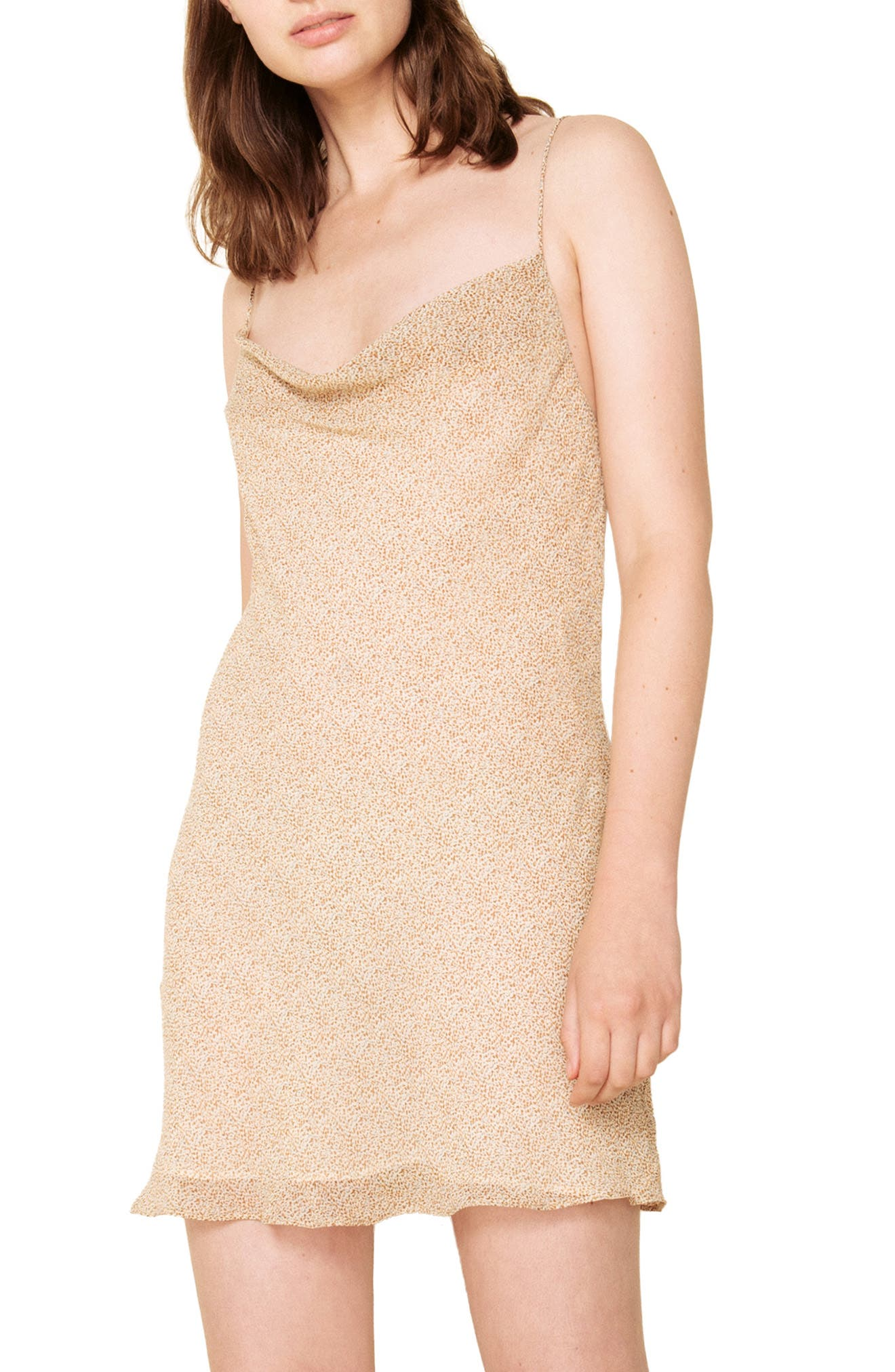 The East Order Vera Tie Back Minidress, Ivory