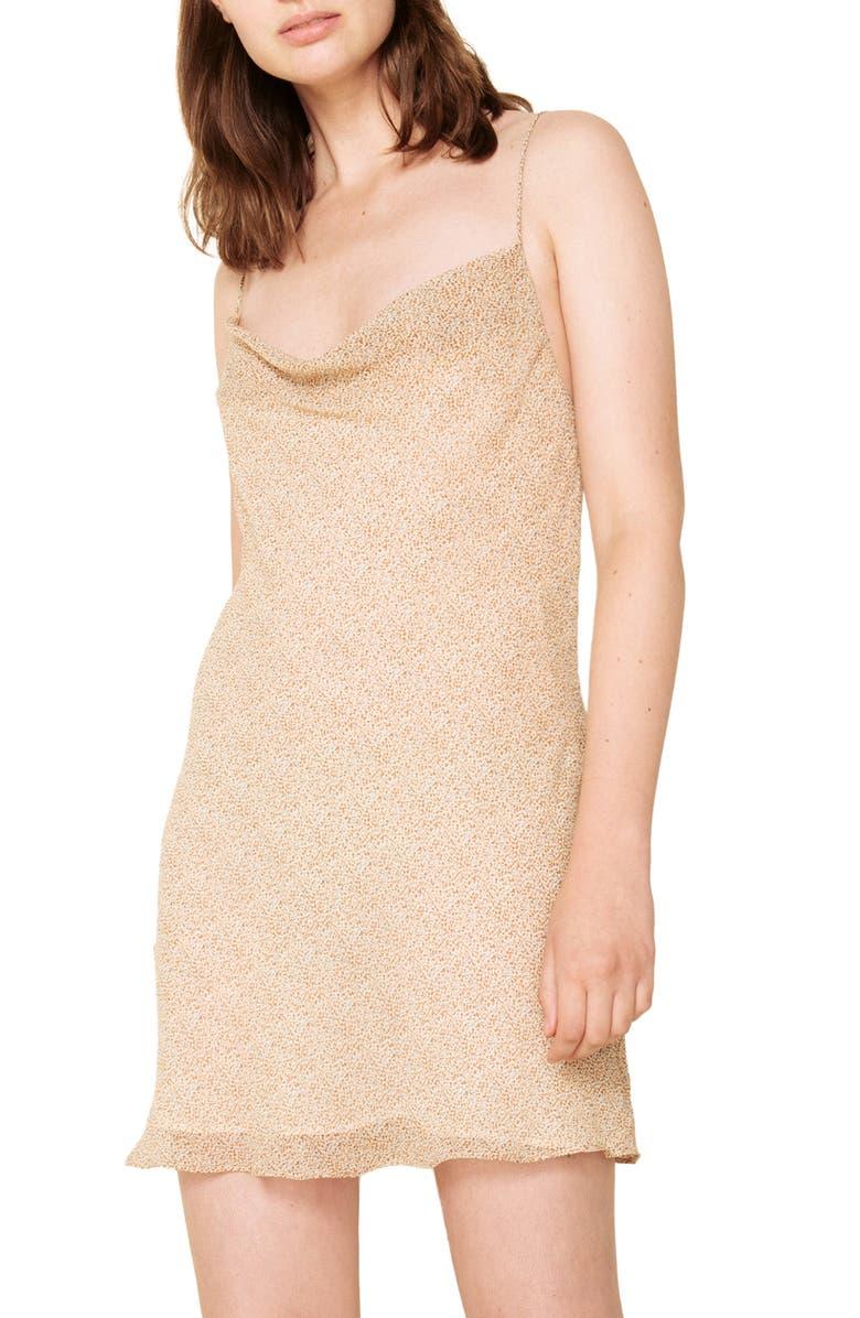 THE EAST ORDER Vera Tie Back Minidress, Main, color, 903