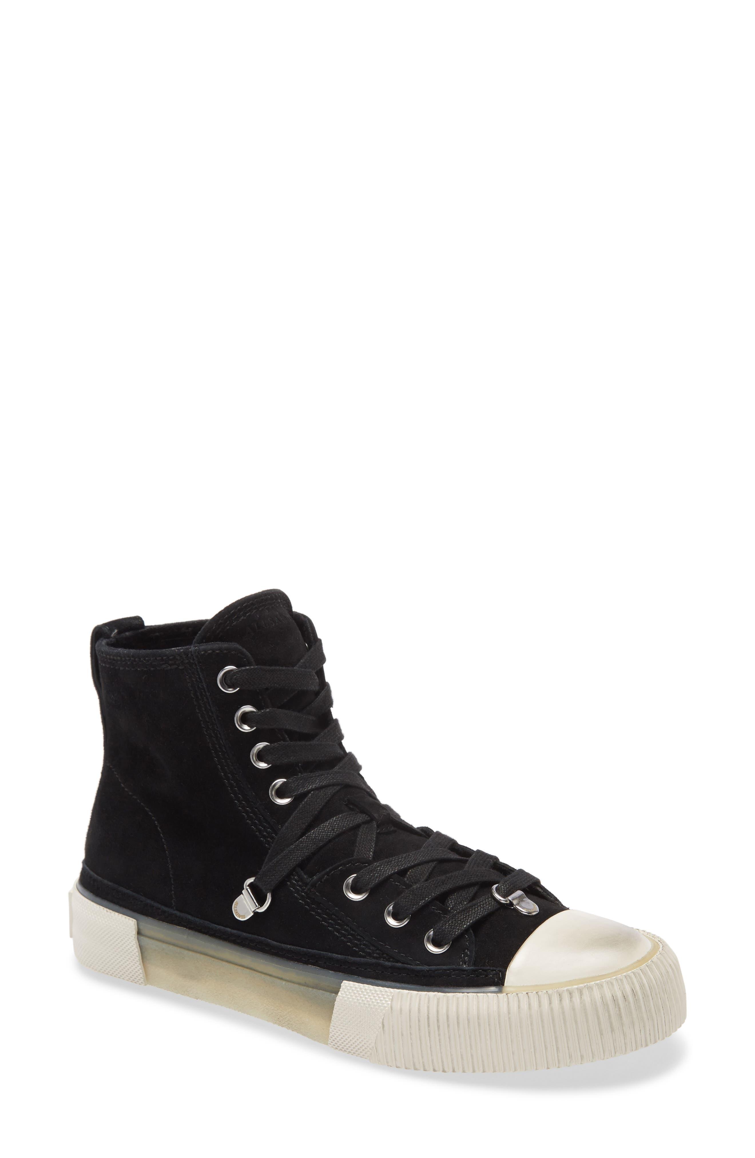 Image of ALLSAINTS Elena High Top Suede Sneaker