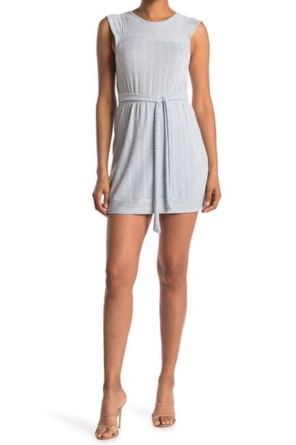 Image of Velvet Torch Belted Rib Knit Dress