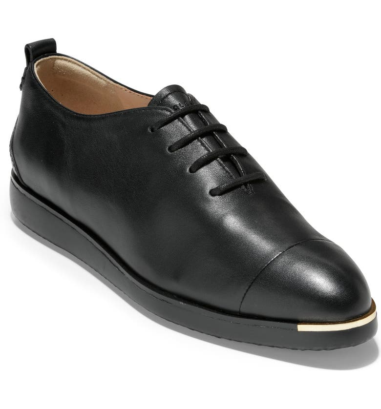 COLE HAAN Grand Ambition Oxford, Main, color, BLACK LEATHER