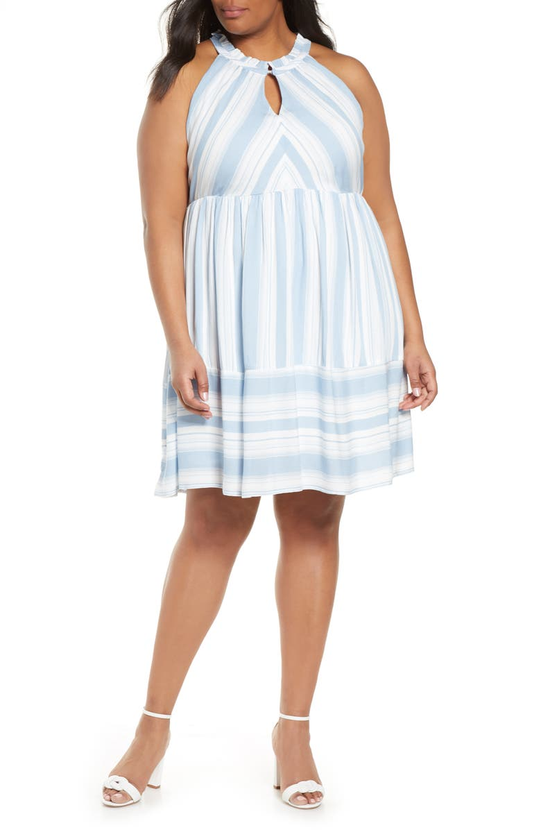 GIBSON x The Motherchic Newport Stripe Dress, Main, color, 400