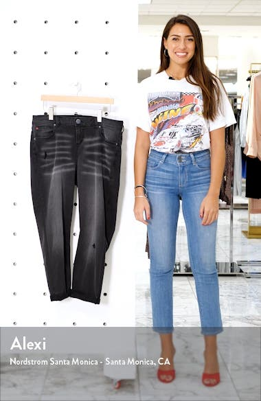 High Waist Distressed Ankle Boyfriend Jeans, sales video thumbnail