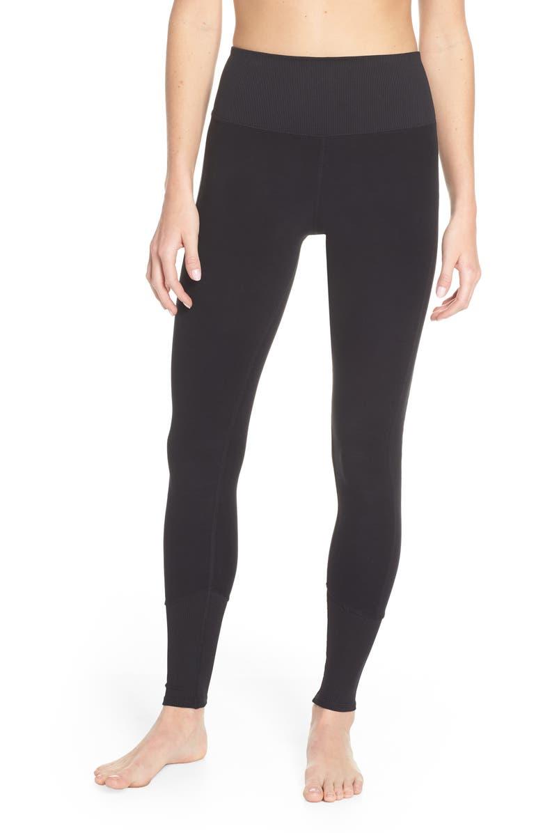ALO High Waist Lounge Leggings, Main, color, BLACK