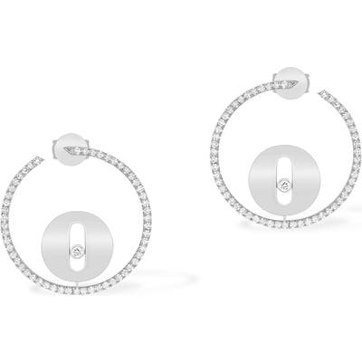 Messika Lucky Move Pave Diamond Hoop Earrings