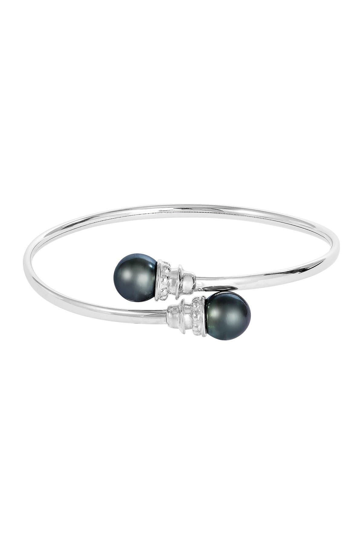Image of Splendid Pearls Double 10-11mm Tahitian Pearl Bangle Bracelet
